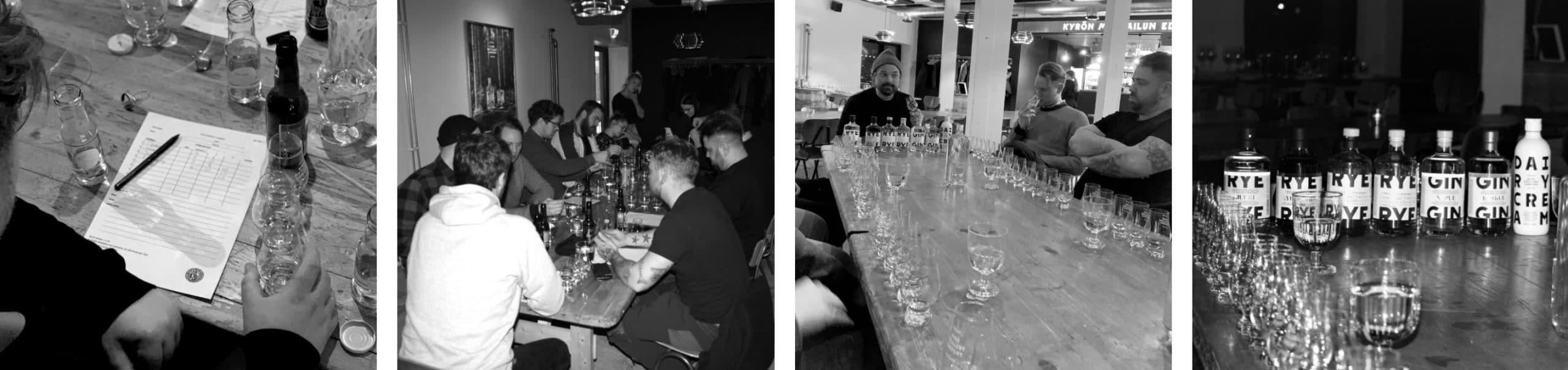 Whisky og gin smagning I Kyrö baren